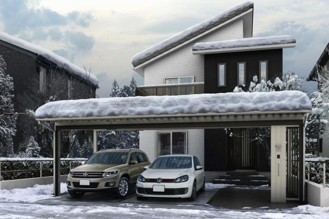 ↑エフルージュトリプル50 5178H H2 木調アタッチメント W6 機能柱 W6 スクリーン W6積雪__XCSS0459