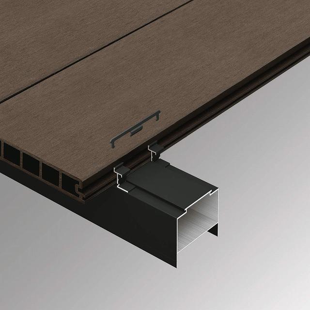 ↑リウッドデッキ 200 メンテナンス用デッキ材押え金具 B7 メンテナンス用デッキ材押さえ金具(押さえ金具B7/ロック金具DG):XGXX0440