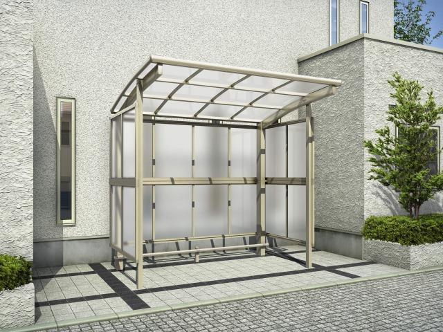 ↑レイナパークグラン 基本セット2921H 屋根ふき材ポリカ (トーメイマット 車止めバー付 H2__XCSS0349B
