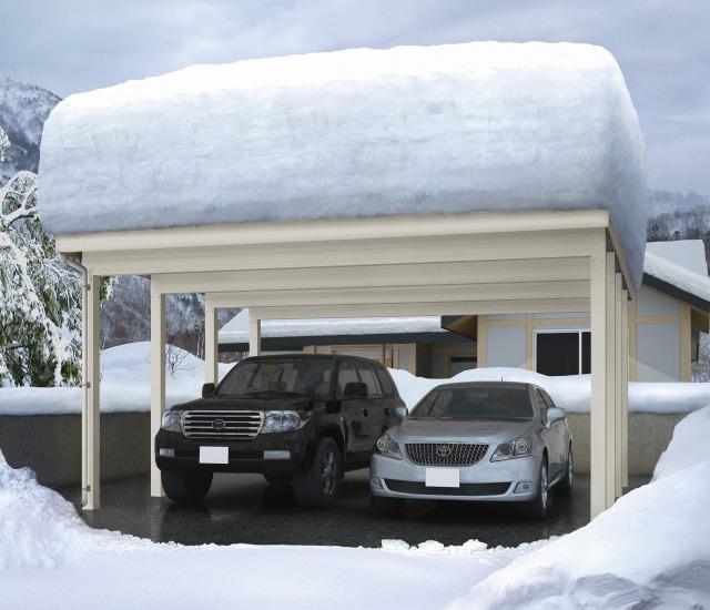 ↑ジーポートneo 200cm積雪対応フリー_基本セット2台用_XCSS0426