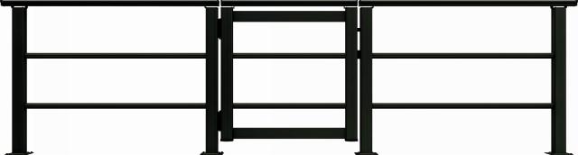 ↑ルシアス デッキ門扉B03型(横格子2本タイプ 08用T80_商品単体外観_XGB70554
