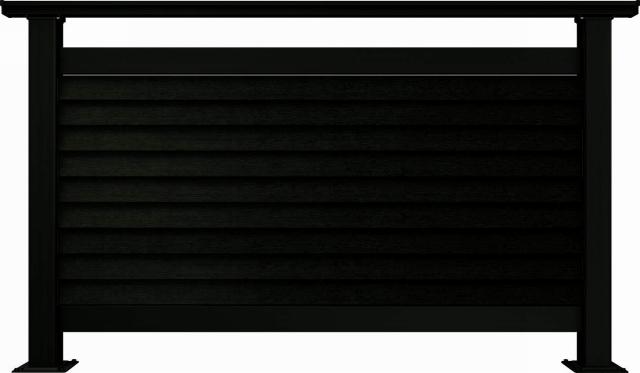 ↑ルシアス デッキフェンスB05型通風ガラリルーバー 12用T80_商品単体外観_XGB70547
