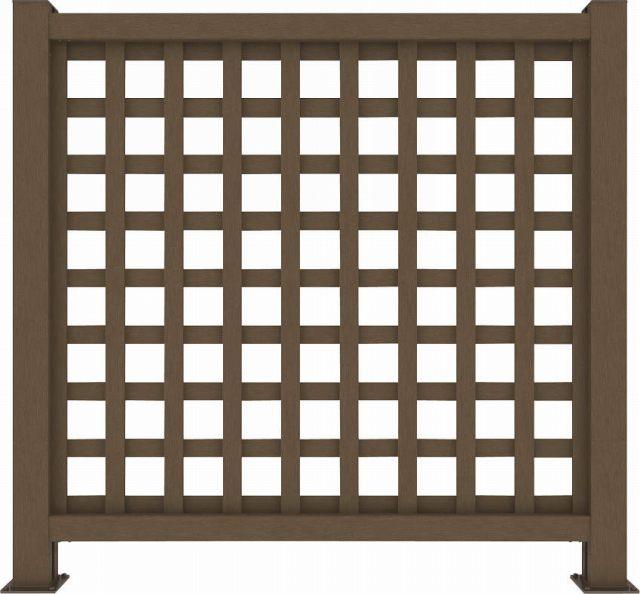 ↑リウッド デッキフェンス1型〈井桁格子 12用 T120 FF_1145_XGFF0446
