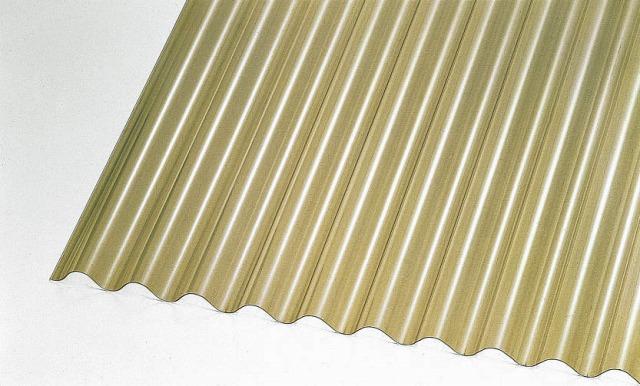 ↑ジーポートneo サイドパネル用波板パネル材(市販品 ブロンズ_カラーサンプル_XCXX0500