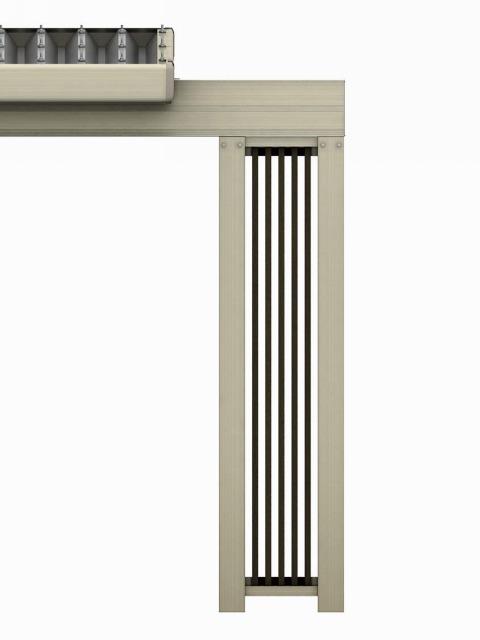 ↑ジーポートneo 2台用梁延長セット2台用 H2 機能柱 端部_部分_XCXX0675