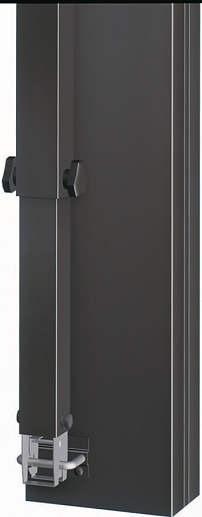 ↑スタンダードカーポートグランシリーズ共通 着脱式サポート収納金具下部 B7_B7カームブラック_XCXX0152