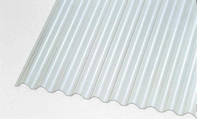 ↑ジーポートneo サイドパネル用波板パネル材(市販品 クリアフロスト_カラーサンプル_XCXX0498