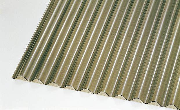 ↑ジーポートneo サイドパネル用波板パネル材(市販品 ブロンズマット_カラーサンプル_XCXX0501