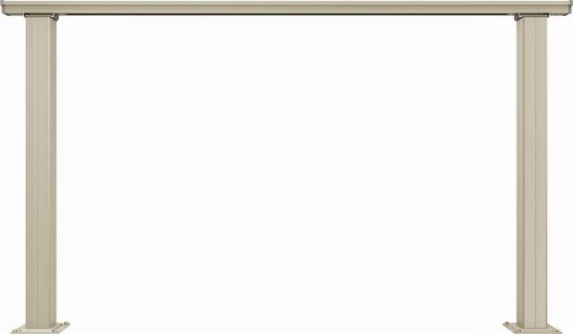 ↑ルシアス デッキフェンスB01型(笠木のみタイプ 12用T80_商品単体外観_XGH20543