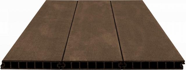 ↑バルコニー用 リウッドデッキ 200 デッキ材 目地3mm FF_FFレッドブラウン_XGXX0365