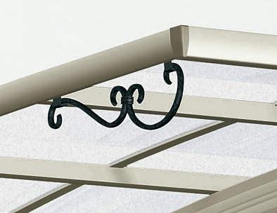 ↑スタンダードカーポートグランシリーズ共通 鋳物飾りA型 屋根ふき材ポリカ (トーメイマット H2_H2プラチナステン_XCXX0353A