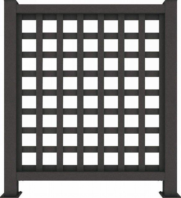 ↑リウッド デッキフェンス1型〈井桁格子 10用 T120 FE_945_XGFE0445A