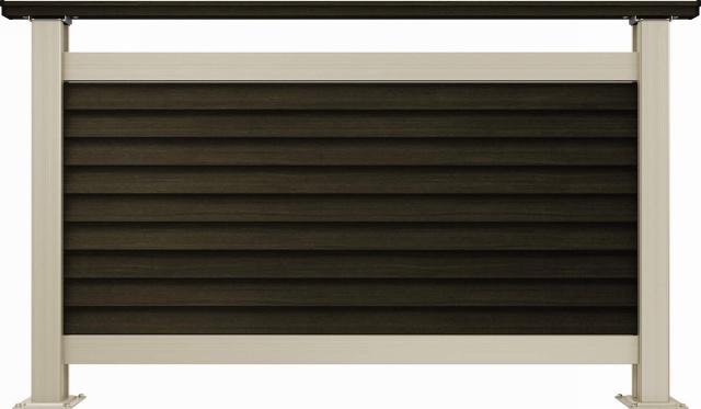 ↑ルシアス デッキフェンスB05型(通風ガラリルーバー 12用T80_商品単体外観_XGH20547W6