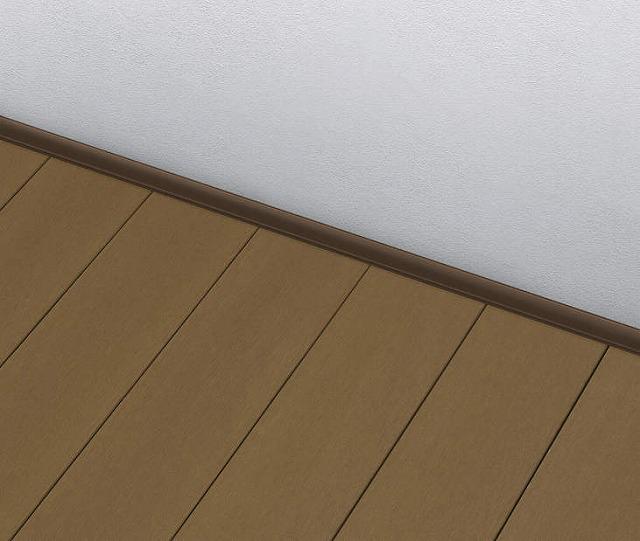 ↑リウッドデッキ 200 壁側目地カバー材 :XGXX0408