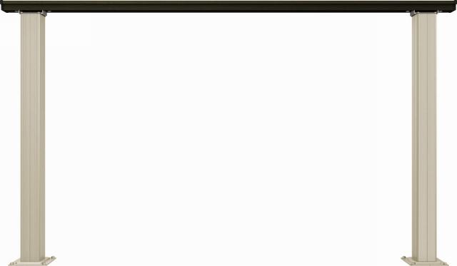 ↑ルシアス デッキフェンスB01型(笠木のみタイプ 12用T80_商品単体外観_XGH20543W6