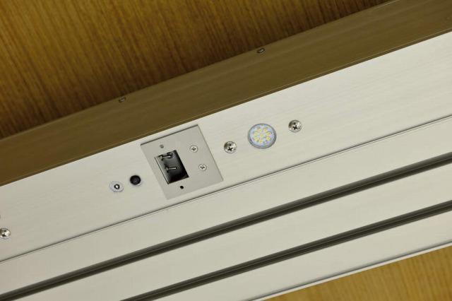 ↑ジーポートneo カーポート用ダウンライト 照度明るさ・人感センサー センサー設定スイッチカバーなし_部分_XCXX0714
