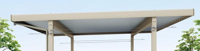 ↑レオンポートneo ブレース収納時(角柱専用 H2__XCXX0626