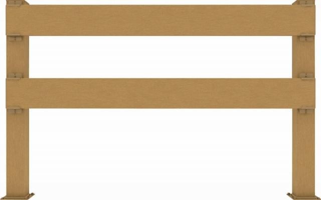 ↑リウッド デッキフェンス4型〈横パネル 12用 T80 FD_1263_XGFD0481