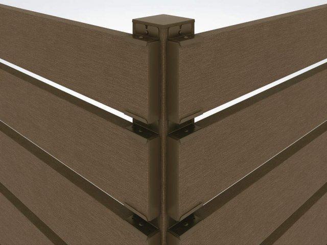 ↑リウッド デッキフェンスリウッド トレリス 3型 90°専用角柱 FF__XGXX0385