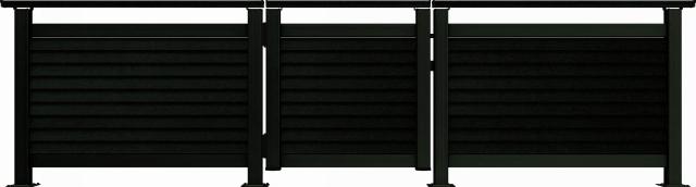 ↑ルシアス デッキ門扉B05型(通風ガラリルーバー 08用T80_商品単体外観_XGB70555