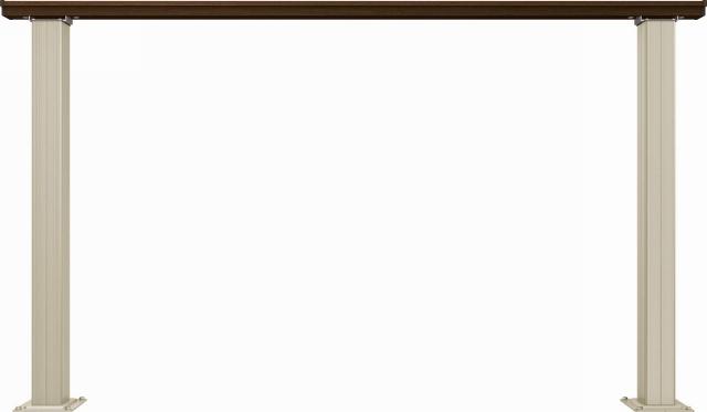 ↑ルシアス デッキフェンスB01型(笠木のみタイプ 12用T80_商品単体外観_XGH20543Z9