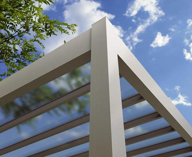 ↑リレーリア テラス屋根 ポリカーボネート板 屋根ふき材 トーメイマット_部分_XKXX0087