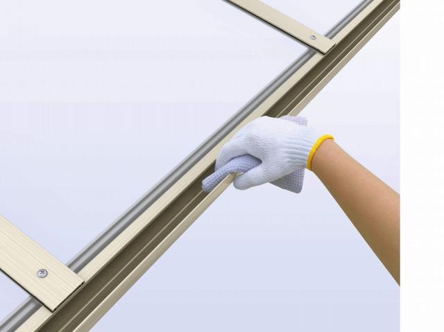 ↑レイナポートグラン 掃除のしやすい雨樋形状 H2_部分_XCXX0579