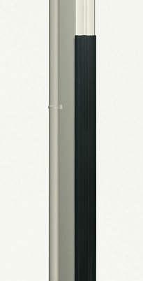 ↑スタンダードカーポートグランシリーズ共通 柱カバー H2_H2プラチナステン_XCXX0356