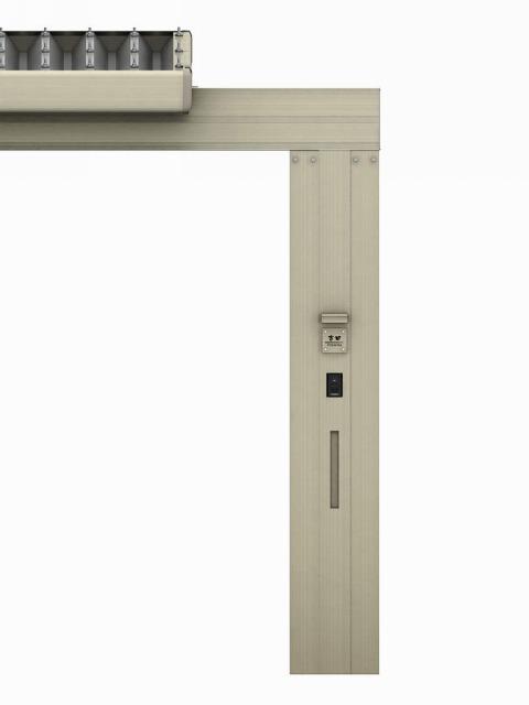 ↑ジーポートneo 2台用梁延長セット2台用 H2 機能柱 端部_部分_XCXX0673
