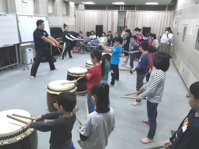 前々週の4月3日にも和太鼓教室の無料体験教室を実施しました。