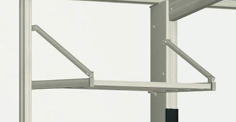 ↑スタンダードカーポートグランシリーズ共通 収納棚 H2_H2:プラチナステン_XCXX0358