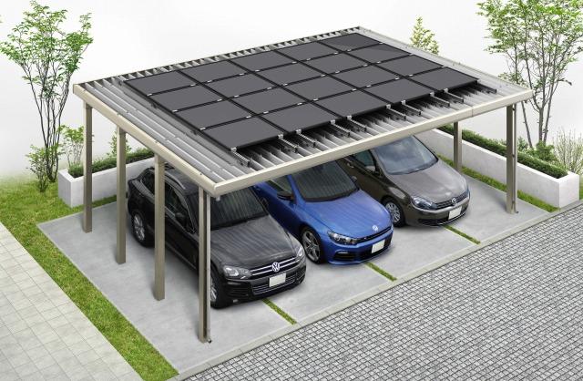 ↑ジーポートneoソーラーパネル搭載用】 基本セット・3台用・ソーラーパネル20枚 H2_ソーラーパネル掲載用_XCH21305