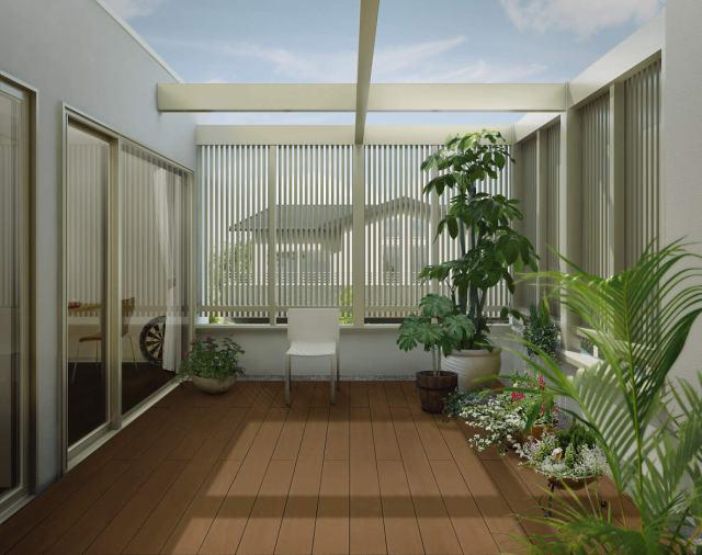↑バルコニー用 リウッドデッキ 200 戸建住宅2階テラス FD_IDナチュラルブラウン_XGSS0259