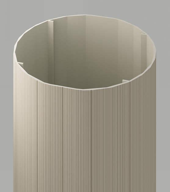 ↑ジーポートneo 丸柱断面 φ170mm H2_部分_XCXX0405