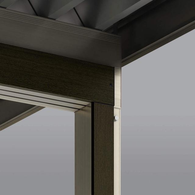 ↑ジーポートneo 280梁3台用 H2 木調アタッチメント W6_部分_XCXX0676