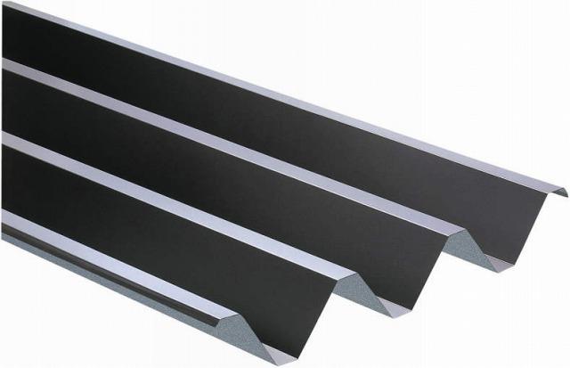 ↑スチール折板屋根ふき材 ブラウン(ガルバリウム鋼板_カラーサンプル_XCXX0495