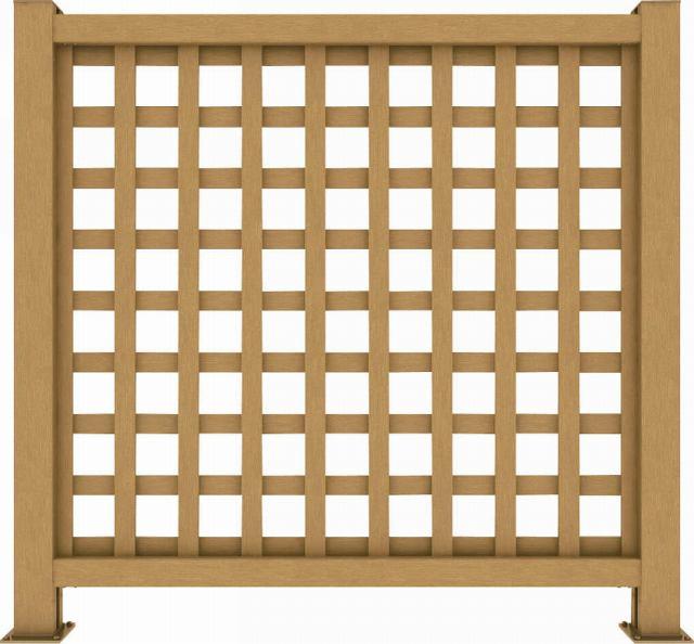 ↑リウッド デッキフェンス1型〈井桁格子 12用 T120 FD_1145_XGFD0444