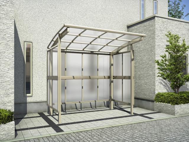 ↑レイナパークグラン 基本セット2921H 屋根ふき材ポリカ (トーメイマット H2_両側支持_XCSS0349A
