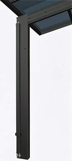 ↑スタンダードカーポートグランシリーズ共通 着脱式サポート柱の収納金具に固定時 B7_B7カームブラック_XCXX0149
