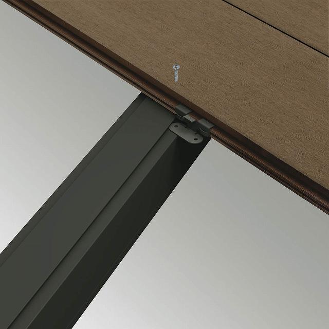 ↑リウッドデッキ 200 変形対応用デッキ材押え金具 DG :XGXX0438