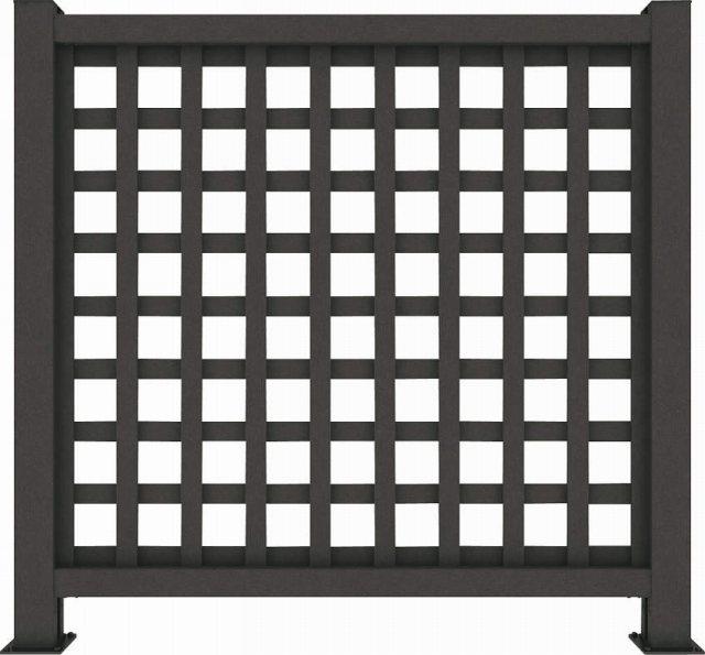 ↑リウッド デッキフェンス1型〈井桁格子 12用 T120 FE_1145_XGFE0445
