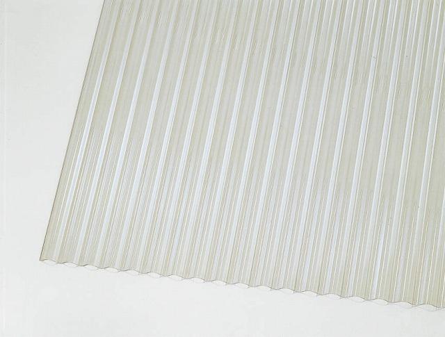 ↑ジーポートneo サイドパネル用波板パネル材(市販品 クリア_カラーサンプル_XCXX0497