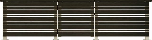 ↑ルシアス デッキ門扉A02型(横板格子+細横格子 08用T80_商品単体外観_XGH20552W6