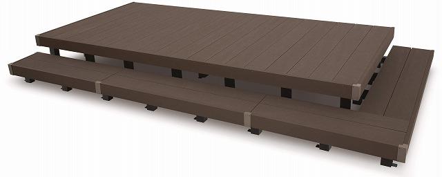 ↑リウッドデッキ 200 段床セット FF 特長説明用 段床セット:XGXX0400