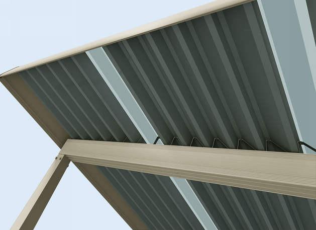 ↑ジーポートneo 明かり取り屋根ふき材W200タイプ 1セット使用時 H2_部分_XCH20757