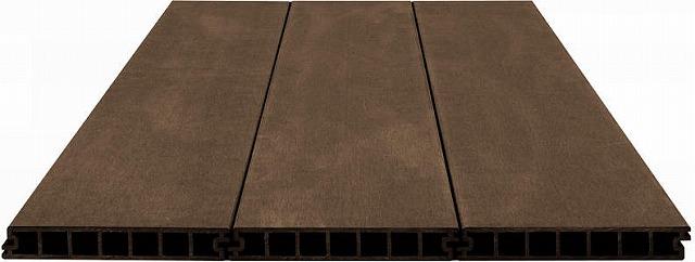 ↑バルコニー用 リウッドデッキ 200 デッキ材 目地3mm FF リウッドデッキ 200 断面:XGXX0365