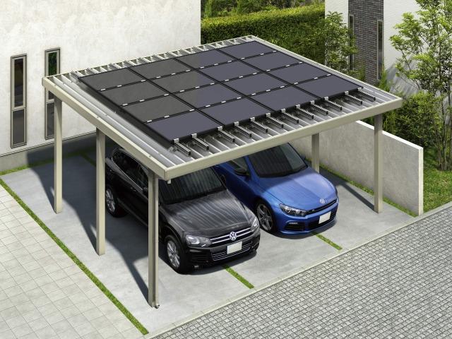 ↑ジーポートneoソーラーパネル搭載用】 基本セット・2台用・ソーラーパネル16枚 H2_ソーラーパネル掲載用_XCH21304