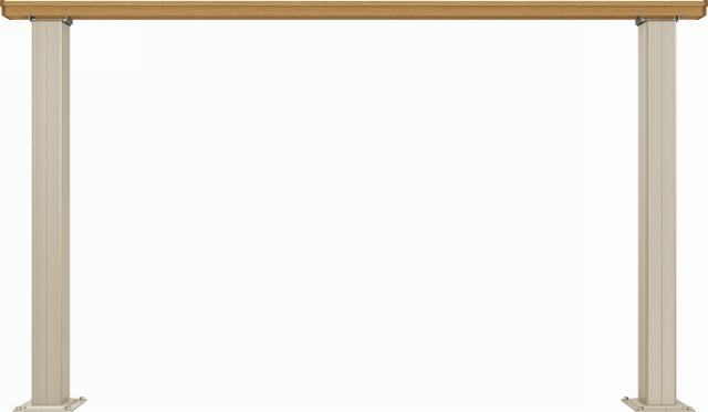 ↑ルシアス デッキフェンスB01型(笠木のみタイプ 12用T80_商品単体外観_XGH20543W7