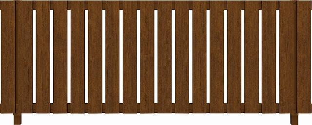 ↑ルシアス フェンス H01型 たて板格子 T80 YF(自由柱施工_商品単体外観_XFYF0438A