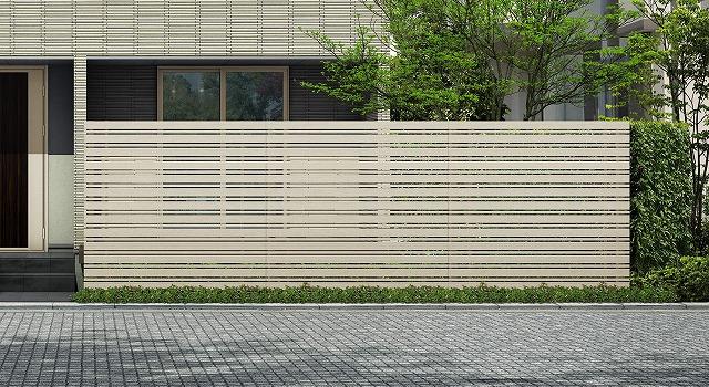 ↑ルシアス スクリーンフェンス S05型 横板格子細横格子 T200 H2_6000_XFSS0208H2